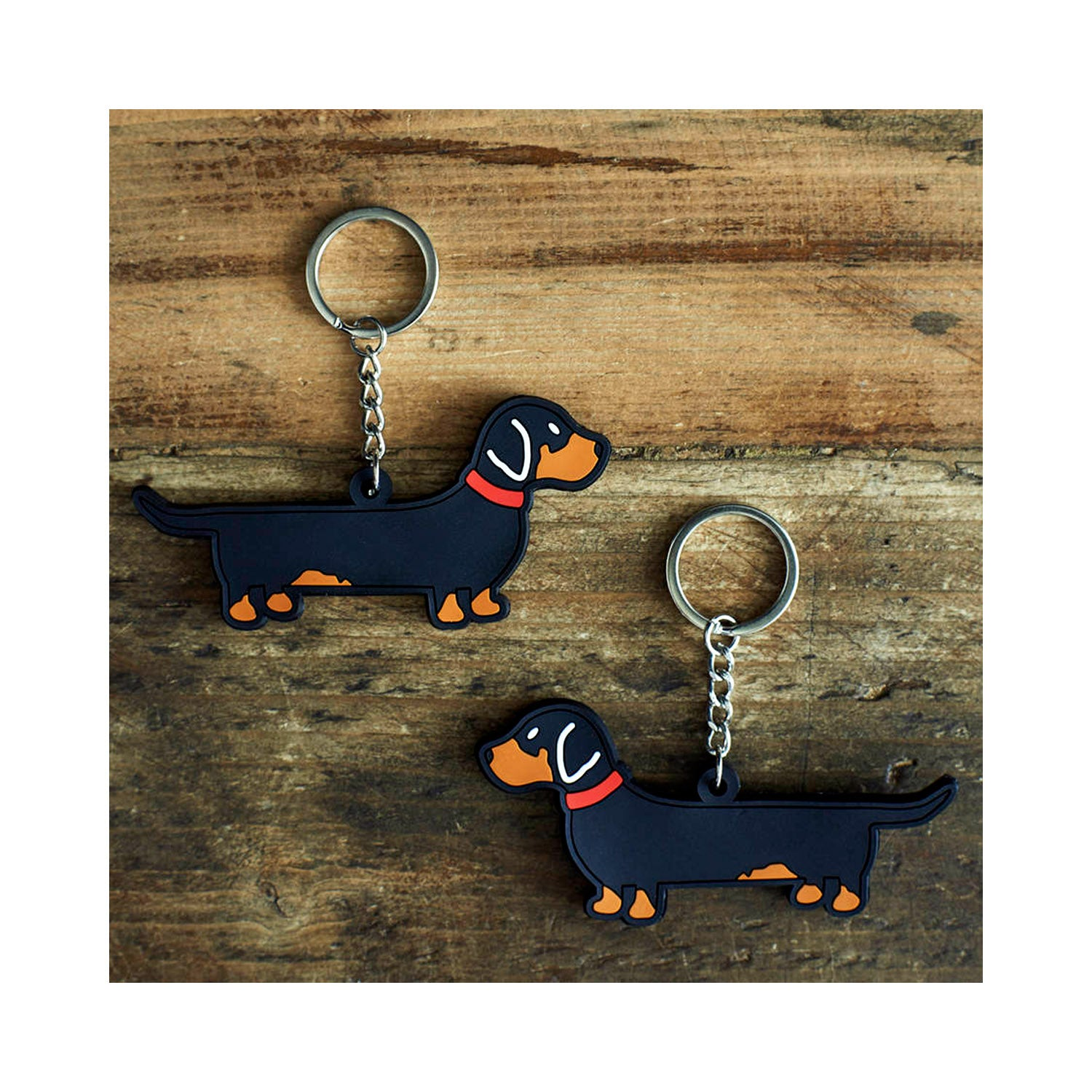 Dog Lover Gifts available at Dog Krazy Gifts - Florence The Dachshund Keyring- part of the Sweet William range available from Dog Krazy Gifts