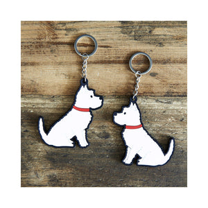 Dog Lover Gifts available at Dog Krazy Gifts - Frank the West Highland Terrier Keyring - part of the Sweet William range available from Dog Krazy Gifts