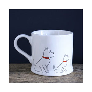 Dog Lover Gifts available at Dog Krazy Gifts - Frank the West Highland Terrier Mug - part of the Sweet William range available from Dog Krazy Gifts