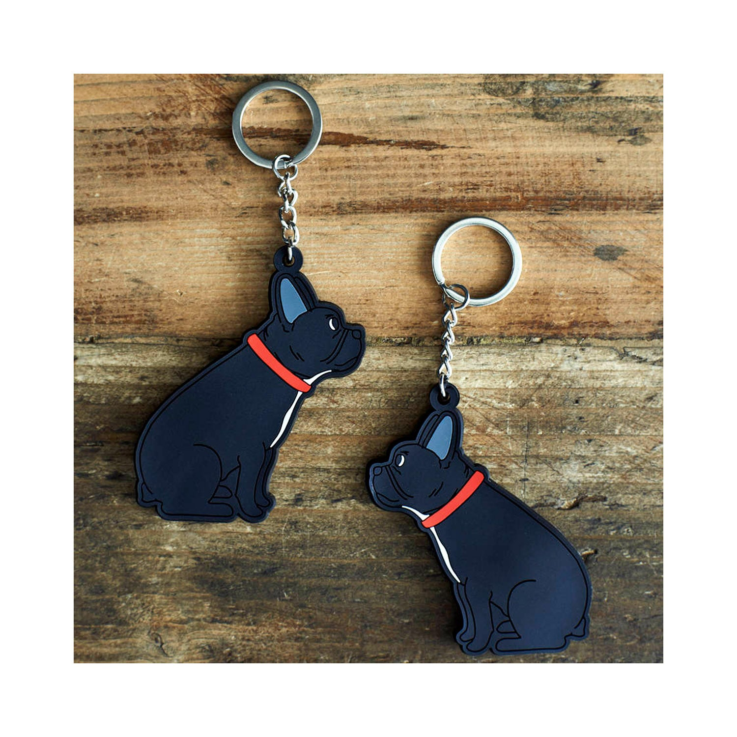 Dog Lover Gifts available at Dog Krazy Gifts - Freddie the French Bulldog Keyring - part of the Sweet William range available from Dog Krazy Gifts