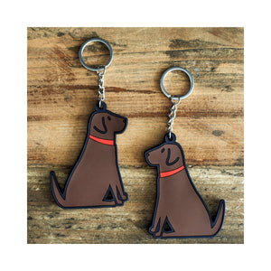 Dog Lover Gifts available at Dog Krazy Gifts - Grace the Chocolate Labrador Keyring - part of the Sweet William range available from Dog Krazy Gifts