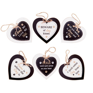 DogKrazyGifts - Doggie Pals Hanging Heart Collection - part of the range of Dog Themed Signs available from Dog Krazy Gifts