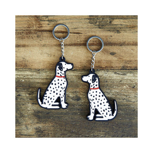 Dog Lover Gifts available at Dog Krazy Gifts - Hector The Dalmatian Keyring - part of the Sweet William range available from Dog Krazy Gifts