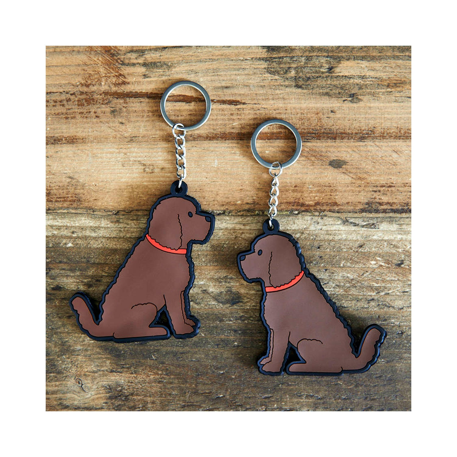 Dog Lover Gifts available at Dog Krazy Gifts - Herbie The Cockerpoo Keyring - part of the Sweet William range available from Dog Krazy Gifts
