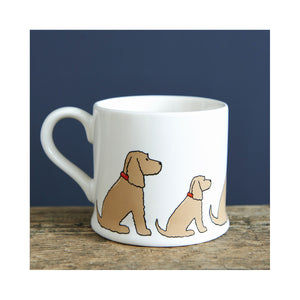 Dog Lover Gifts available at Dog Krazy Gifts - Hetty The Golden Cocker Spaniel Mug - part of the Sweet William range available from Dog Krazy Gifts