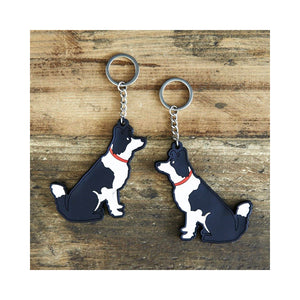 Dog Lover Gifts available at Dog Krazy Gifts - Lola The Border Collie Keyring - part of the Sweet William range available from Dog Krazy Gifts