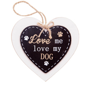 DogKrazyGifts - Doggie Pals Hanging Heart - Love me love my Dog - part of the range of Dog Themed Signs available from Dog Krazy Gifts