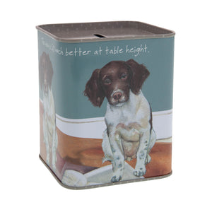 Dog Krazy Gifts – Springer Spaniel Money Tin part of the Springer Spaniel Range available from DogKrazyGifts.co.uk
