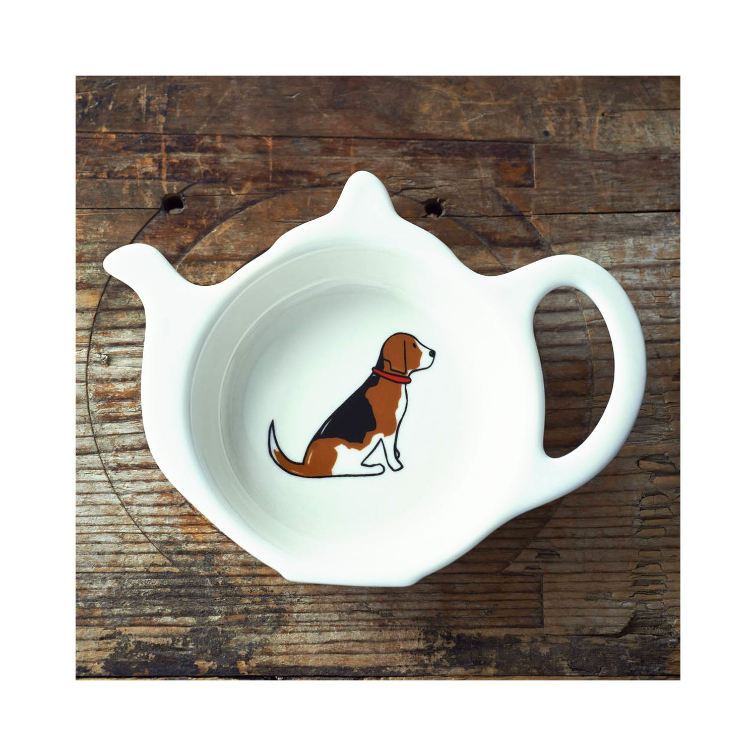 Dog Lover Gifts available at Dog Krazy Gifts - Rupert The Beagle Teabag Dish - part of the Sweet William range available from www.DogKrazyGifts.co.uk
