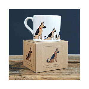 DogKrazyGifts - Sebastian The German Shepherd Dog Mug - part of the Sweet William range available from Dog Krazy Gifts