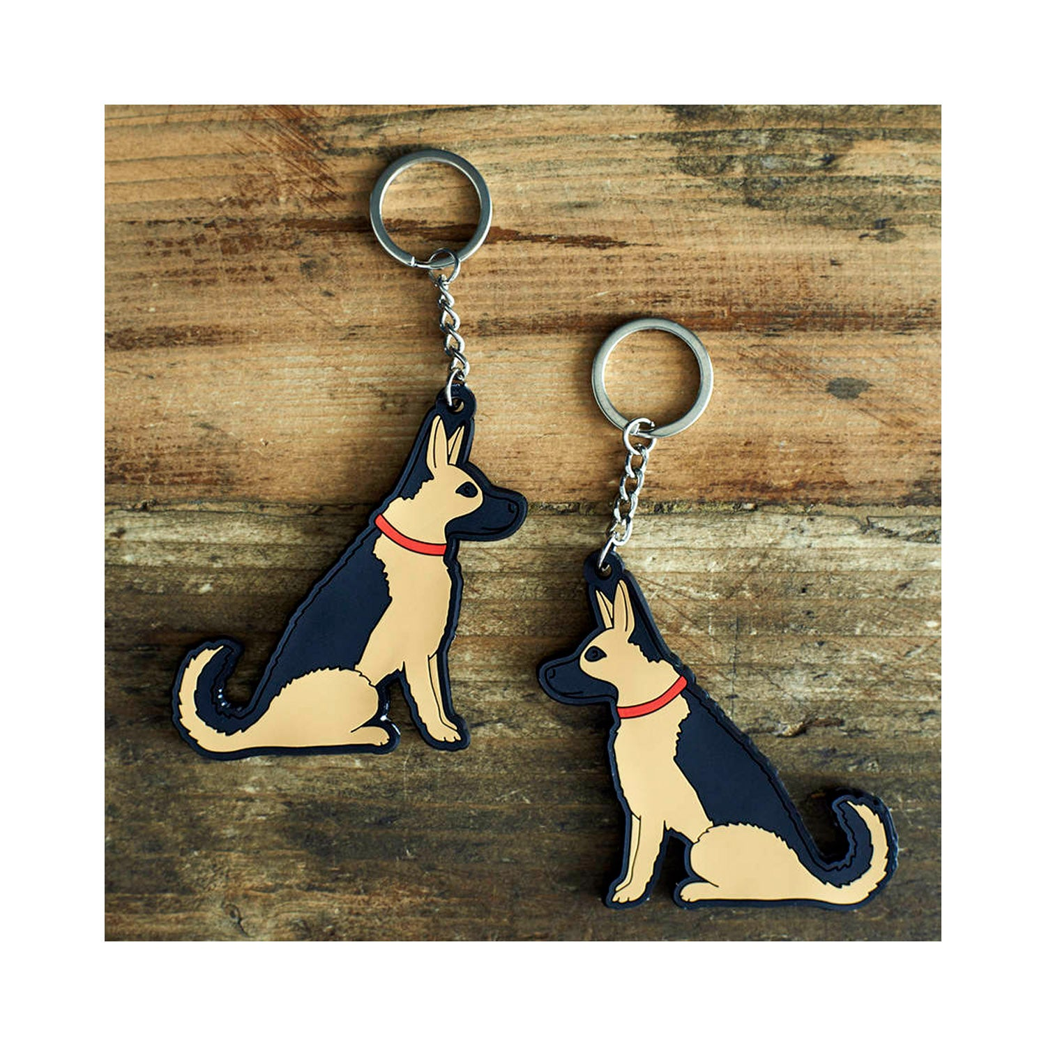 Dog Lover Gifts available at Dog Krazy Gifts - Sebastian The German Shepherd Keyring - part of the Sweet William range available from Dog Krazy Gifts