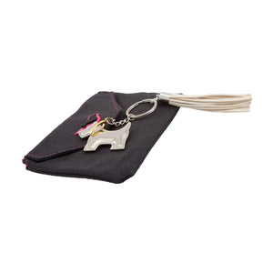 DogKrazyGifts - Westie Key Ring With Tassel - Scottie or Westie Keyring perfect gift for a dog lover, from the West Highland Terrier range available from Dog Krazy Gifts