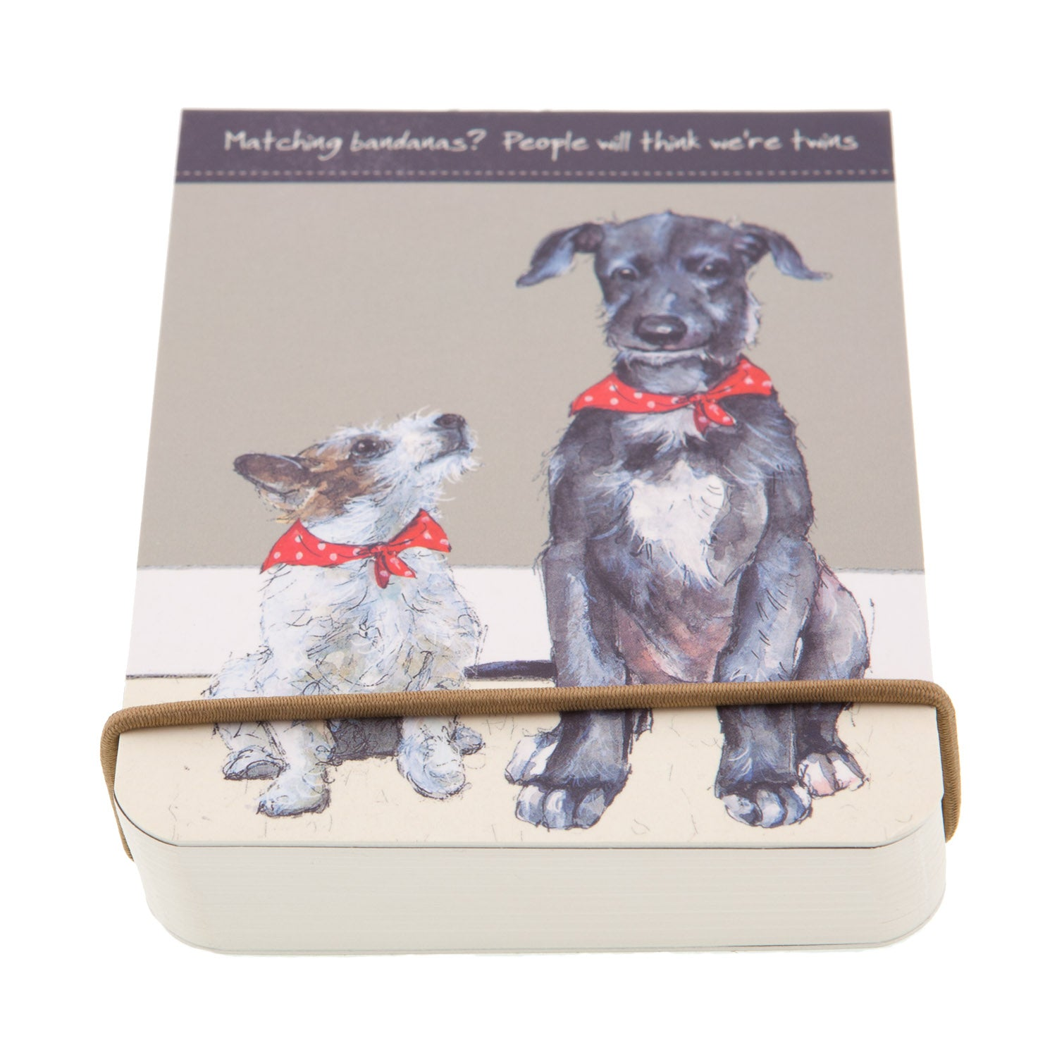 DogKrazyGifts - Twins Flip notebook - part of the Little Dog Range available from Dog Krazy Gifts