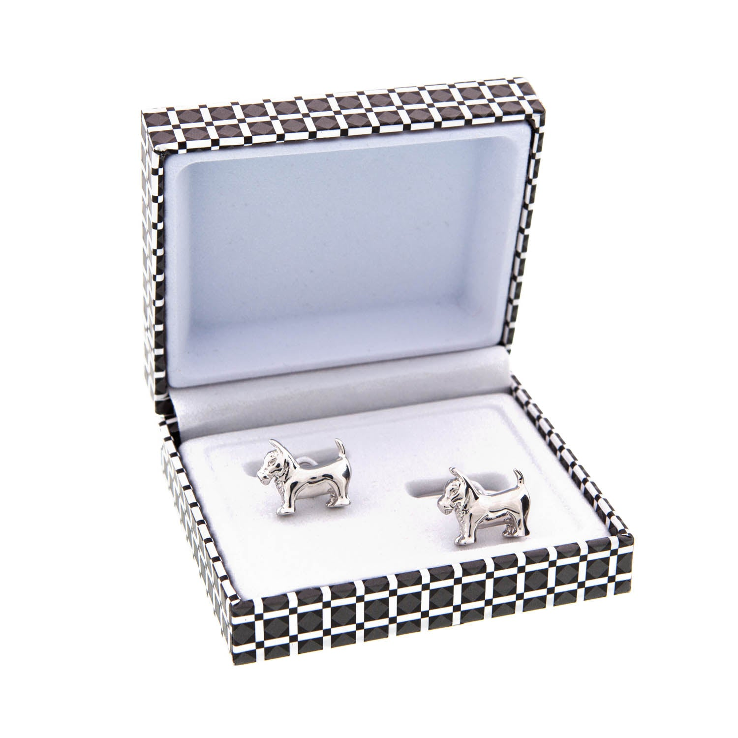 Dog Krazy Gifts - Westie Cufflinks, part of the range of West Highland Terrier themed gifts available from DogKrazyGifts.co.uk