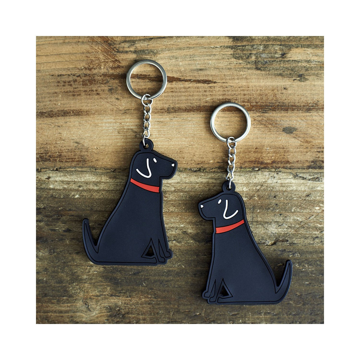Dog Lover Gifts available at Dog Krazy Gifts - William The Black Labrador Keyring by Sweet William - part of the Labrador collection of Dog Lovers Gifts available from Dog Krazy Gifts