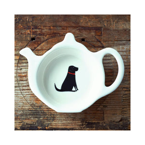 Dog Lover Gifts available at Dog Krazy Gifts - William The Black Labrador Teabag Dish by Sweet William - part of the Labrador collection of Dog Lovers Gifts available from Dog Krazy Gifts