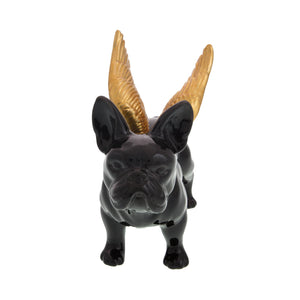 Dog Lover Gifts available at Dog Krazy Gifts – Black French Bulldog With Gold Wings Money box – High gloss ceramic part of the French Bulldog Range available from DogKrazyGifts.co.uk