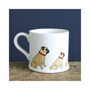 Dog Lover Gifts available at Dog Krazy Gifts - Winston The Pug Mug - part of the Sweet William range available from Dog Krazy Gifts