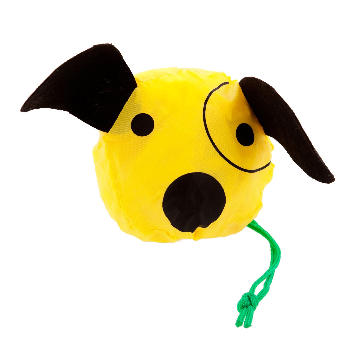 DogKrazyGifts - Yellow Bag In A Dog - foldable shopping bag available from Dog Krazy Gifts