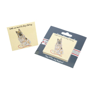 DogKrazyGifts - Louis – Walk me and I'll stop starring magnet, part of the German Shepherd Dog range from Dog Krazy Gifts