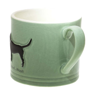 Dog Lover Gifts – Bailey & Friends shabby chic black Labrador – 150ml espresso mug. Part of the Bailey & Friends range of mugs available from Dog Krazy Gifts