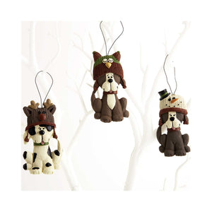 Dog Krazy Gifts - 3 hanging dogs Christmas Decorations part of our Christmas range