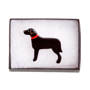 Dog Lover Gifts available at Dog Krazy Gifts – Ceramic Black Labrador Brooch by Mary Goldberg of Stockwell Ceramics, Just Part Of Our Collection Of Labrador Themed Gifts, Available At www.dogkrazygifts.co.uk