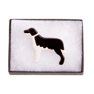 Dog Lover Gifts available at Dog Krazy Gifts – Ceramic Border Collie and Sheep Brooch Set by Mary Goldberg of Stockwell Ceramics, Just Part Of Our Collection Of Collie Dog Themed Gifts, Available At www.dogkrazygifts.co.uk