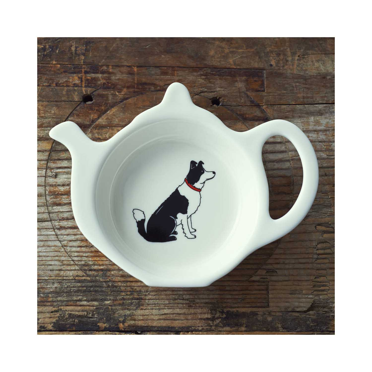 Dog Lover Gifts available at Dog Krazy Gifts - Lola the Border Collie Teabag Dish - part of the Sweet William range available from www.DogKrazyGifts.co.uk