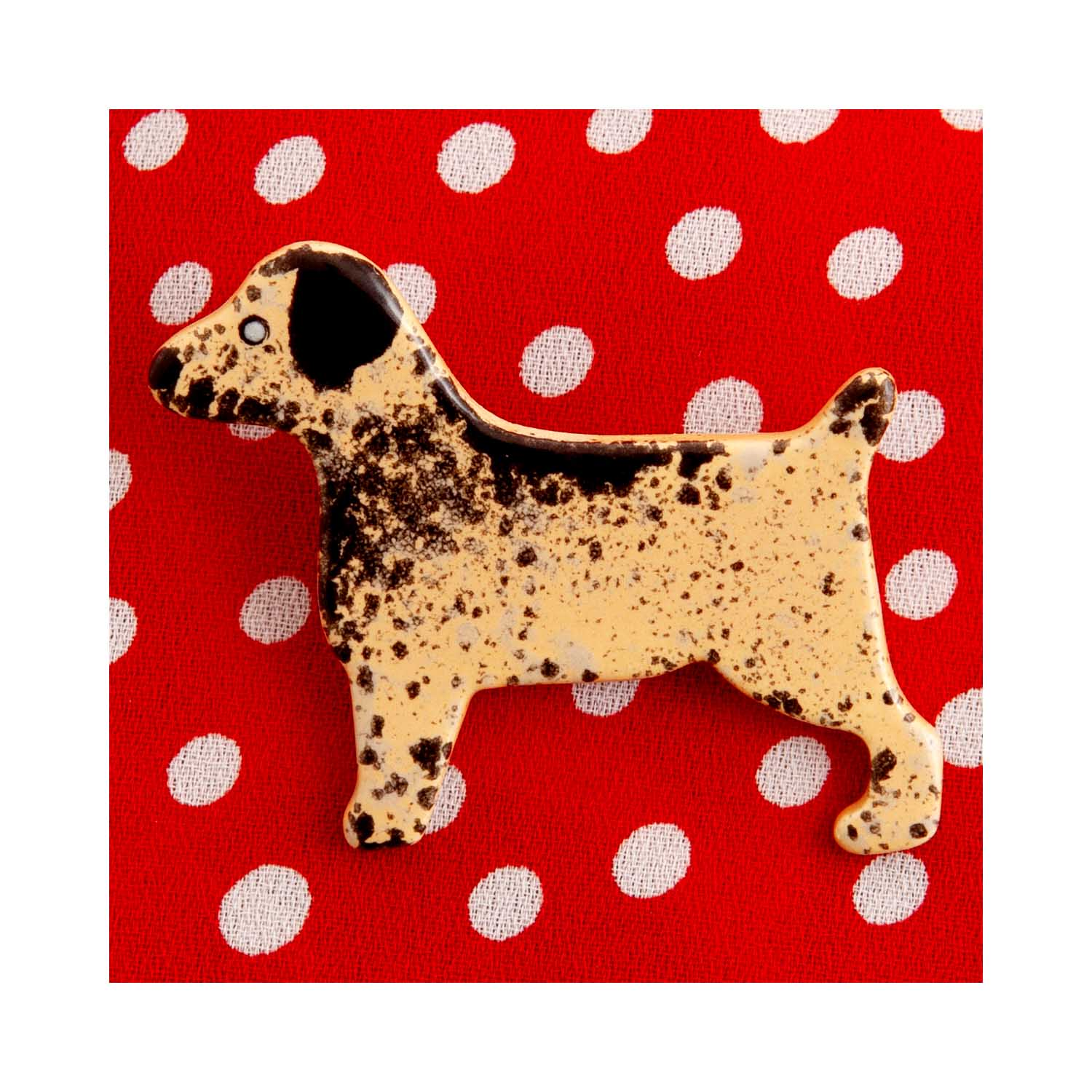 Dog Lover Gifts available at Dog Krazy Gifts – Ceramic Border Terrier Brooch by Mary Goldberg of Stockwell Ceramics, Just Part Of Our Collection Of Border Terrier Themed Gifts, Available At www.dogkrazygifts.co.uk