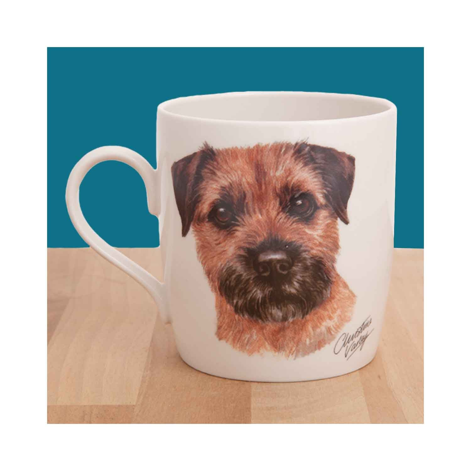 Dog Lover Gifts available at Dog Krazy Gifts - Border Terrier Waggy Dogz Mug, part of the range of Border Terrier themed gifts available from DogKrazyGifts.co.uk