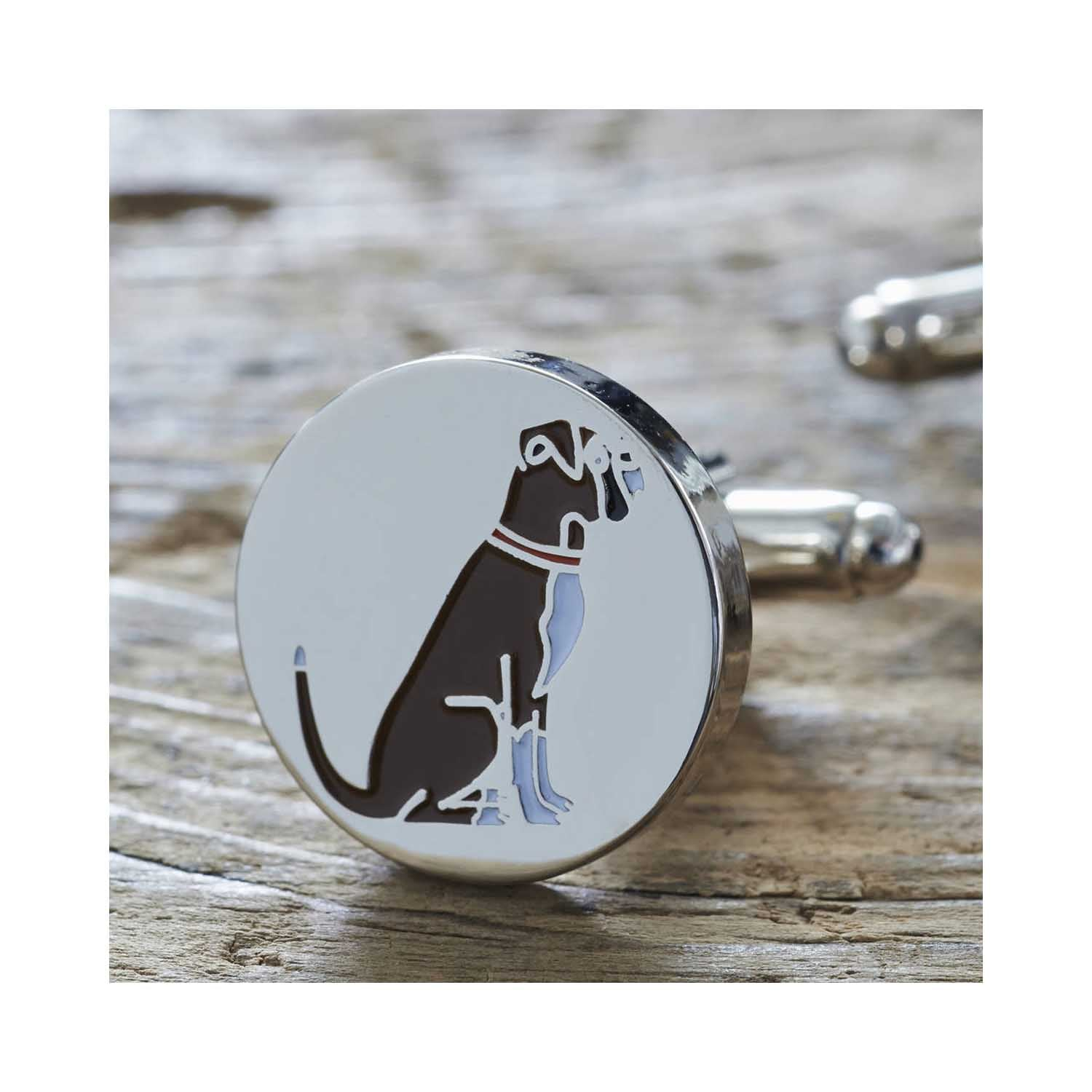 Dog Lover Gifts available at Dog Krazy Gifts - Archie The Boxer Cufflinks and Dog Tag Set - part of the Sweet William range of gifts for dog lovers available from Dog Krazy Gifts