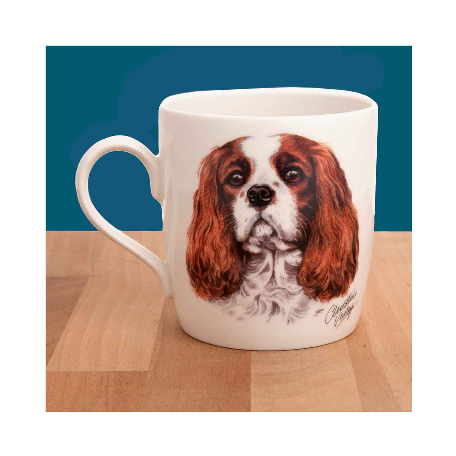 Dog Lover Gifts available at Dog Krazy Gifts - Cavalier King Charles Waggy Dogz Mug, part of the range of Spaniel themed gifts available from DogKrazyGifts.co.uk