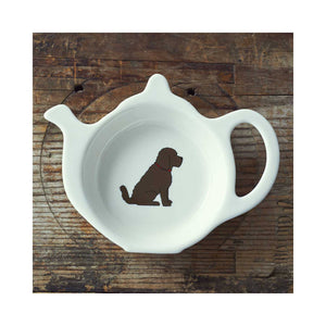 Dog Lover Gifts available at Dog Krazy Gifts - Herbie the Cockapoo Teabag Dish - part of the Sweet William range available from www.DogKrazyGifts.co.uk
