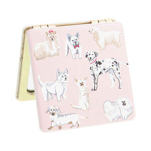 Dog Krazy Gifts - Watercolour Dogs Compact Mirror, part of the Lisa Angel range available from DogKrazyGifts.co.uk