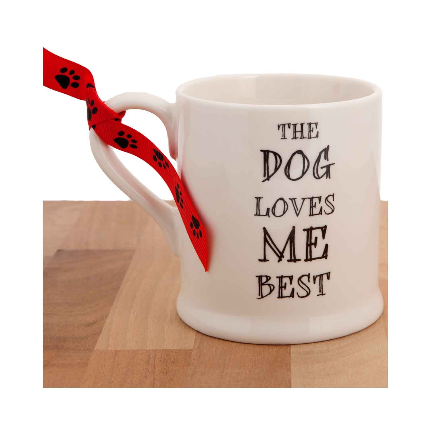 Dog Krazy Gifts - The Dog Loves Me Best Mug part of the Sweet William range available from DogKrazyGifts.co.uk