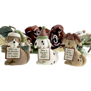 Dog Krazy Gifts - 3 Dogs With signs Xmas Decoration part of our Christmas range