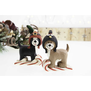 Dog Krazy Gifts - 2 Dogs on sleighs Xmas Decoration part of our Christmas range