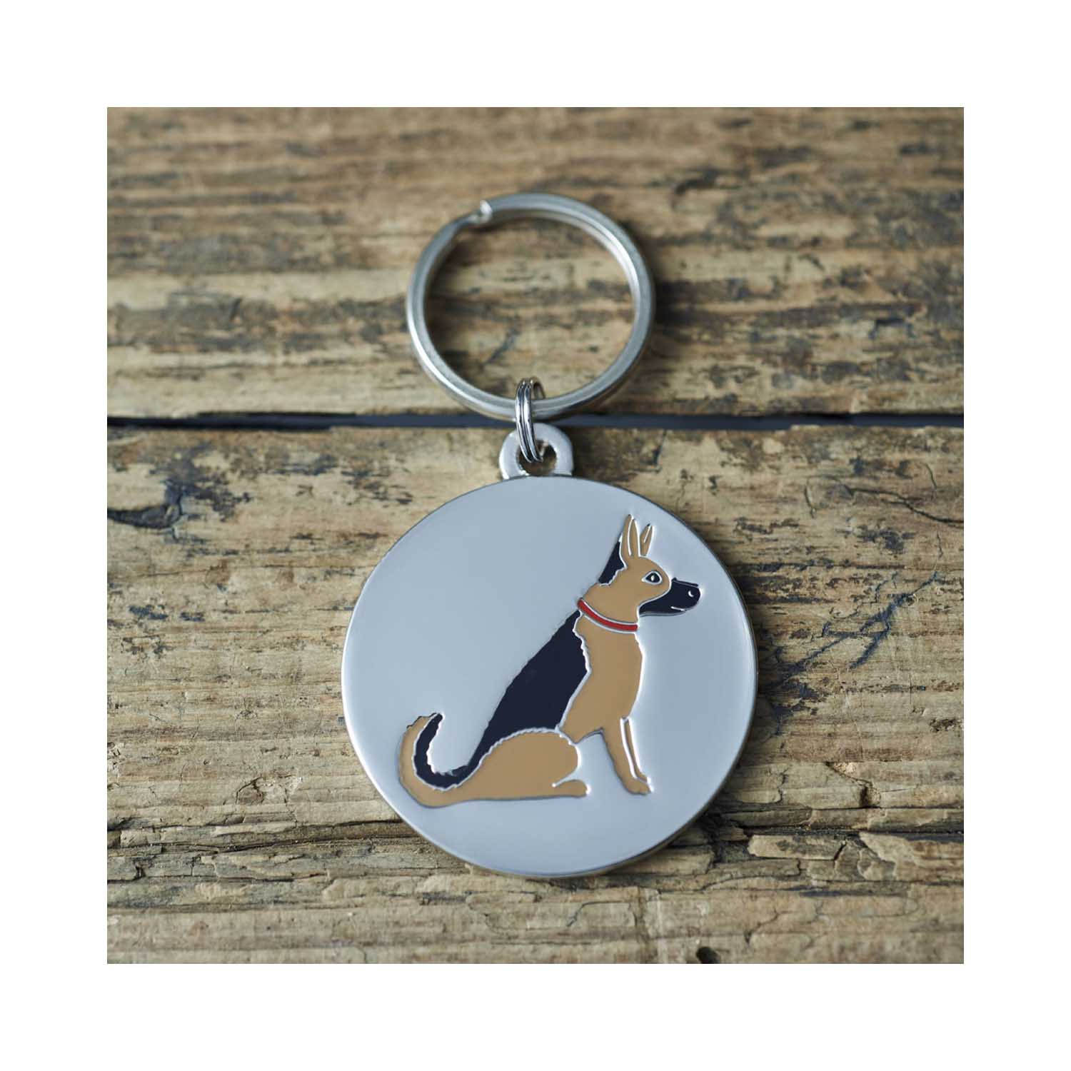 Dog Lover Gifts available at Dog Krazy Gifts - Sebastian The GSD Cufflink and Dog Tag Set - part of the Sweet William range available from DogKrazyGifts.co.uk