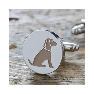 Dog Lover Gifts available at Dog Krazy Gifts - Hetty The Golden Cocker Spaniel Cufflink and Dog Tag Set - part of the Sweet William range available from DogKrazyGifts.co.uk