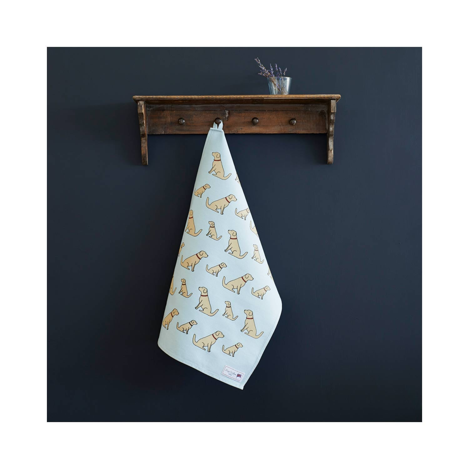 Dog Lover Gifts - Dog Krazy Gifts – noah the golden retriever Organic Tea Towel - part of the Sweet William range available from www.DogKrazyGifts.co.uk