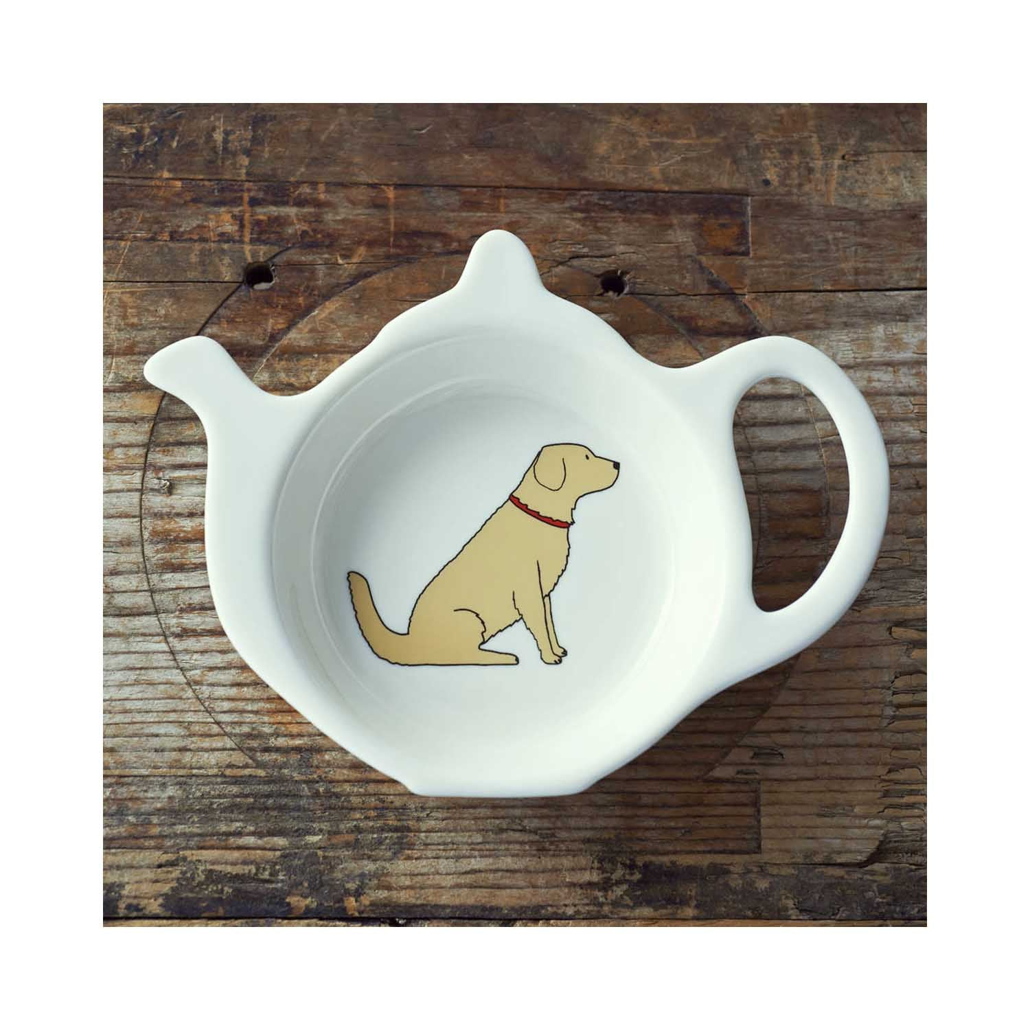 Dog Lover Gifts available at Dog Krazy Gifts - Noah The Golden Retriever  Teabag Dish - part of the Sweet William range available from www.DogKrazyGifts.co.uk