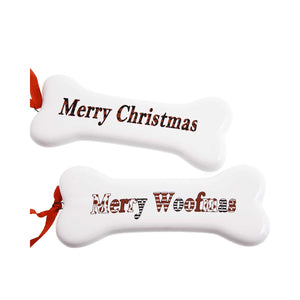 Dog Krazy Gifts - Merry Christmas hanging bone Xmas Decoration part of our Christmas range
