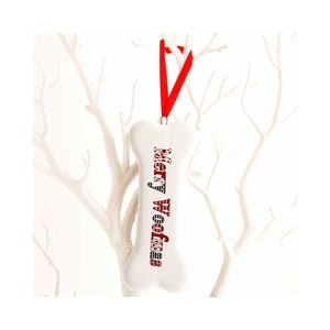 Dog Krazy Gifts - Merry Woofmas hanging bone Xmas Decoration part of our Christmas range