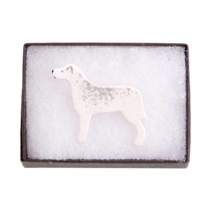 Dog Lover Gifts available at Dog Krazy Gifts – Ceramic Husky Brooch by Mary Goldberg of Stockwell Ceramics, Just Part Of Our Collection Of Husky Themed Gifts, Available At www.dogkrazygifts.co.uk