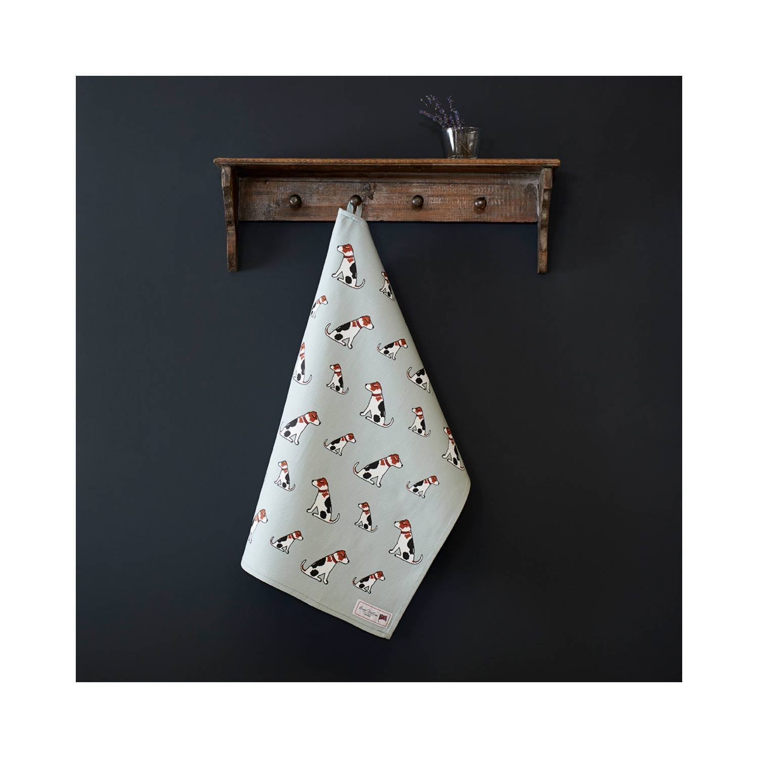 Dog Lover Gifts - Dog Krazy Gifts – alfie the adorable jack russell Organic Tea Towel - part of the Sweet William range available from www.DogKrazyGifts.co.uk