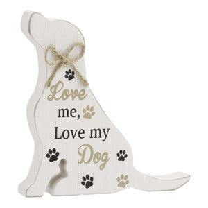 Dog Lover Gifts available at Dog Krazy Gifts – Labrador Standing Dog Sign, Love me Love my Dog, Just Part Of Our Collection Of Signs Available At www.dogkrazygifts.co.uk