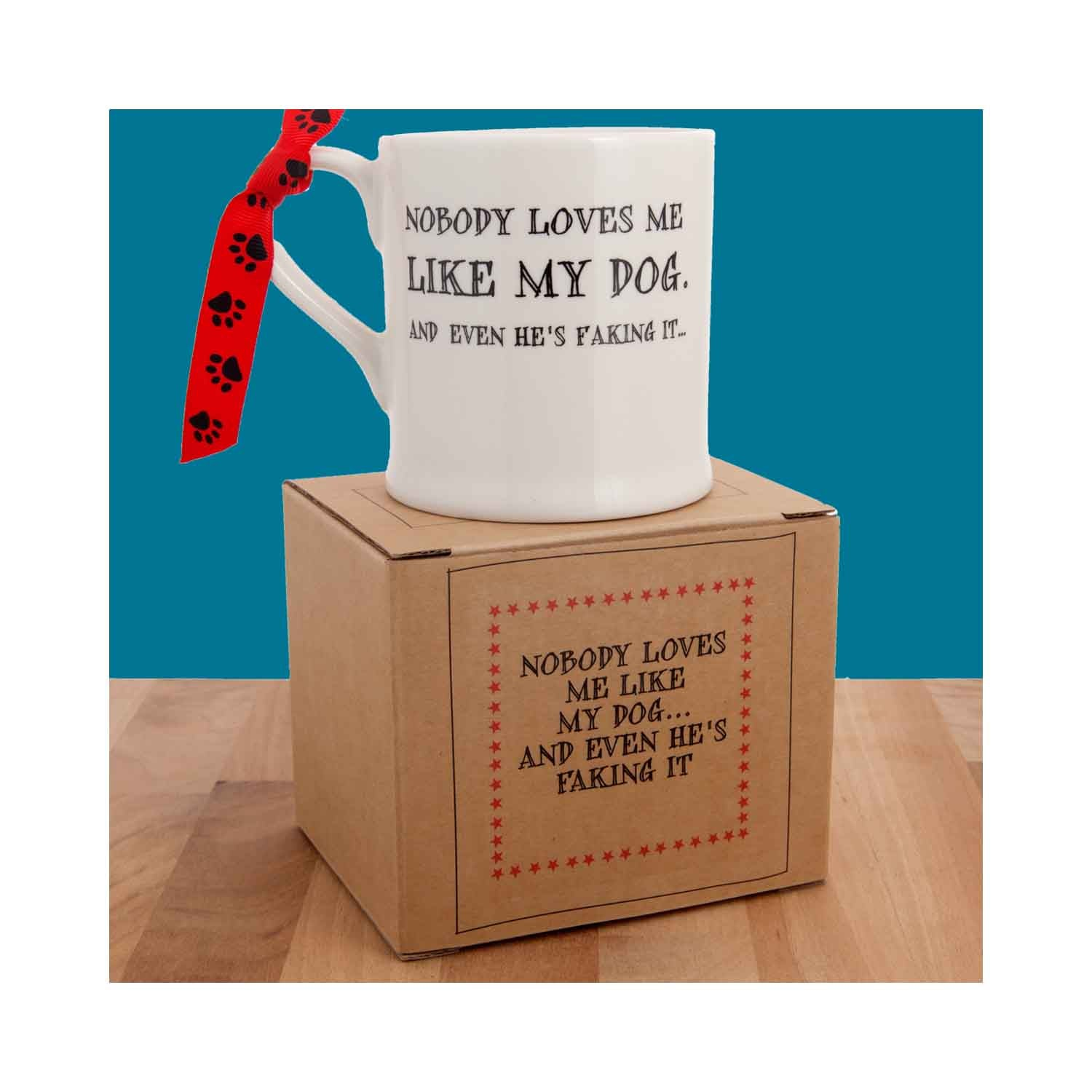 Dog Krazy Gifts - Nobody Loves Me Like My Dog Mug part of the Sweet William range available from DogKrazyGifts.co.uk