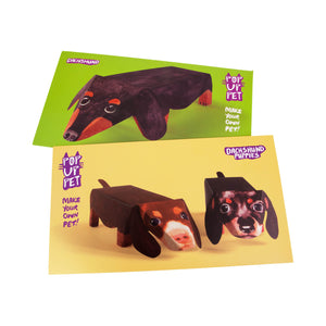Dog Krazy Gifts - Dachshund Pop Up Pet and Dachshund Pop Up Puppies, part of the range of Dachshund themed gifts available from DogKrazyGifts.co.uk