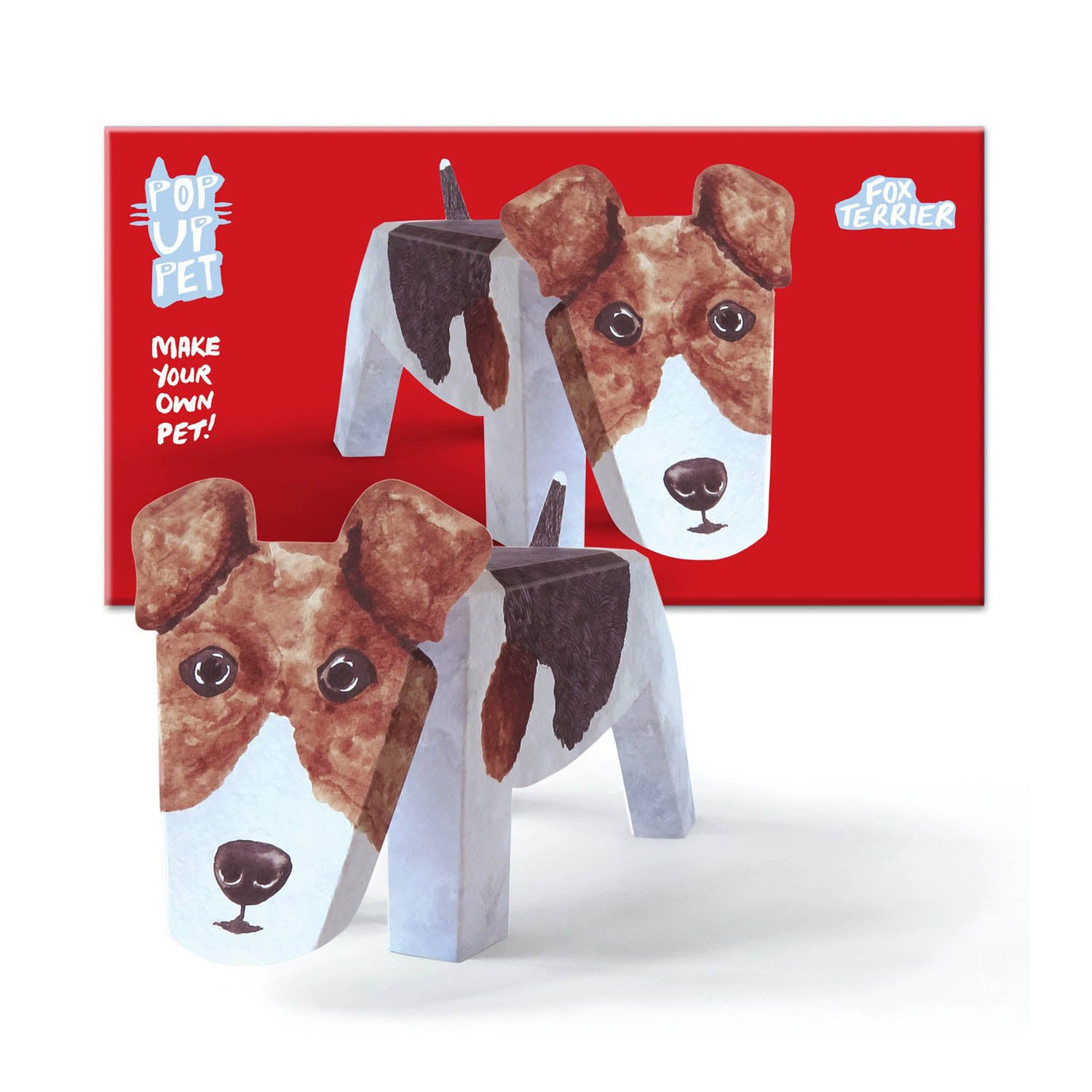 Dog Krazy Gifts - Fox Terrier Pop Up Pet, part of the range of  Rosie Flo Pop Up Pets available from DogKrazyGifts.co.uk